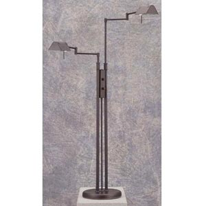 Double Black Pharmacy Floor Lamp