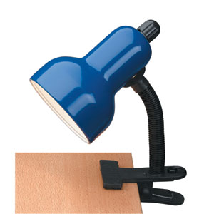 Clip-On Blue One-Light Clamp-On Lamp