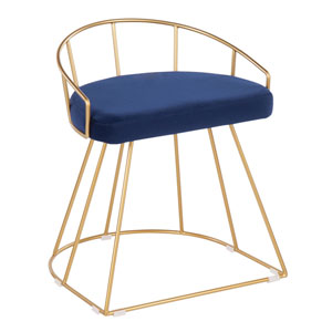 Canary Gold and Blue 23-Inch Counter Stool