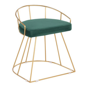 Canary Gold and Green 23-Inch Counter Stool