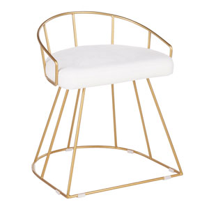 Canary Gold and White 23-Inch Counter Stool