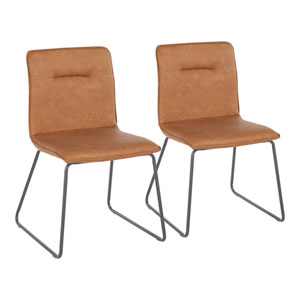 Casper Black and Camel Dining Chair, Set of 2