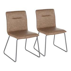 Casper Black and Espresso Dining Chair, Set of 2