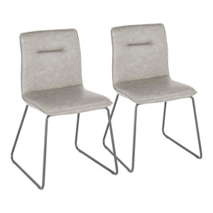 Casper Black and Gray Dining Chair, Set of 2