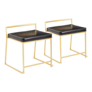 Fuji Gold and Black Dining Chair, Set of 2