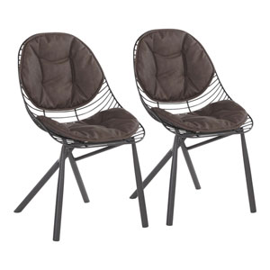 Wired Black and Espresso Dining Chair, Set of 2
