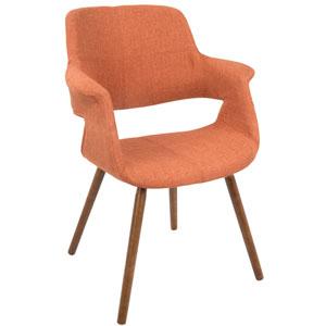 Vintage Flair Orange Arm Dining Chair