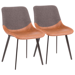 Outlaw Black, Brown and Gray Dining Chair, Set of 2