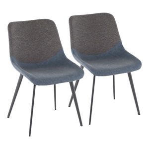 Outlaw Black, Blue and Gray Dining Chair, Set of 2
