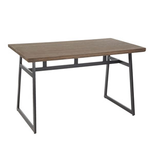 Geo Black and Brown 51-Inch Dining Table