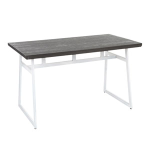 Geo Vintage White and Espresso 51-Inch Dining Table