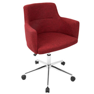 andrew Red Adjustable Swivel office Chair