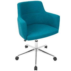 andrew Teal Adjustable Swivel office Chair
