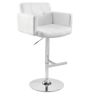 Stout White Bar Stool