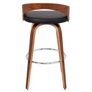 Grotto Walnut and Brown Barstool