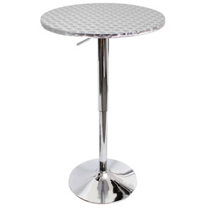 Bistro Silver Swirl Bar Table