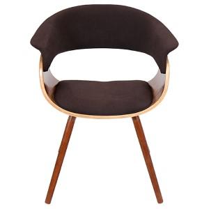 Mod Walnut and Espresso Vintage Chair