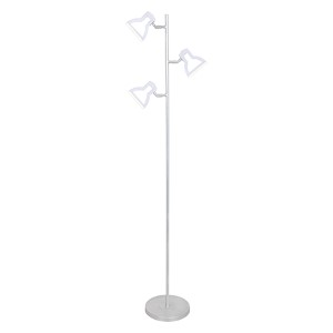 Silver 2D LED Tree Floor Lamp