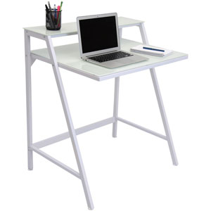 2-Tier White Desk