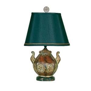 Bronze One-Light Pot Accent Lamp