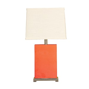 Coral One-Light Ceramic Block Table Lamp