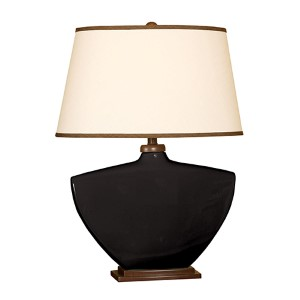 Black One-Light Ceramic Table Lamp