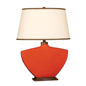 Red One-Light Ceramic Table Lamp