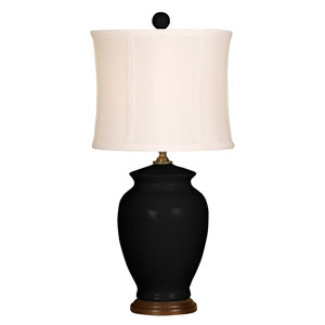 Splash Black One-Light 18-Inch Table Lamp
