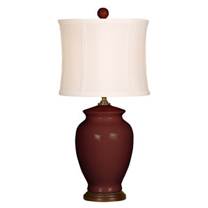 Splash Burgundy One-Light 18-Inch Table Lamp