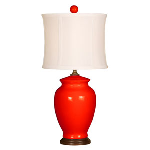 Splash Coral One-Light 18-Inch Table Lamp