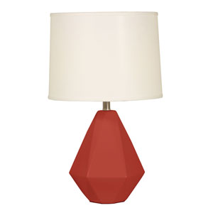Splash Burgundy One-Light 24.75-Inch Table Lamp