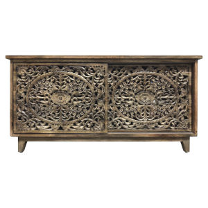Brown 67-Inch Large Cabinet