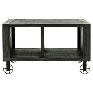 Quentin Deep Charcoal 32-Inch Occasional Square Table