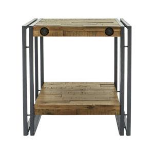Austen Natural Steel Grey 20-Inch Side Table