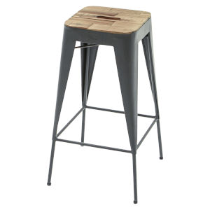 Austen Natural Steel Grey 16-Inch Bar Stool