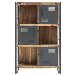 Austen Natural Steel Grey 35-Inch Tall Cabinet
