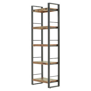 Austen Natural Steel Grey 24-Inch Small Shelf