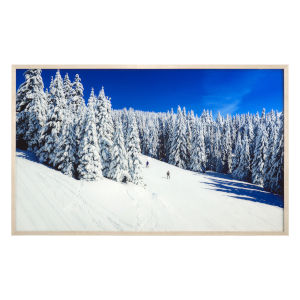 Multicolor Tempered Glass Horizontal Ski Slope Wall Decor, 50 W x 1 D x 30 H