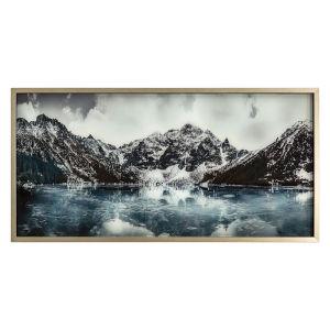 Blue White and Grey 40-Inch Artic Slumber Landscape