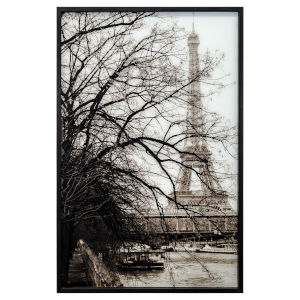 White and Black 30-Inch Perspective In Paris Landscape
