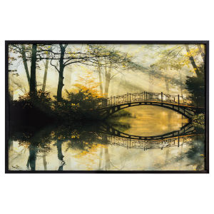 Black Beige and Yellow 47-Inch Rippling Effect Landscape