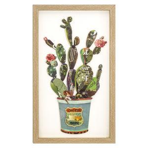Multicolor 12-Inch Cactus Collage I Landscape