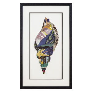 Blue Brown and Yellow 16-Inch Conch I Landscape