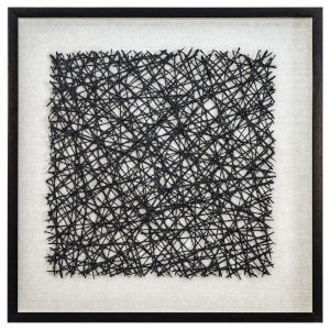 Black and White 32-Inch Thread Lightly Wall Art