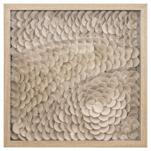 Beige and Gold 24-Inch Intricacy I Wall Art