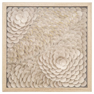 Beige and Gold 24-Inch Intricacy II Wall Art