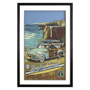 Multicolor 3D Art Collages Vertical One Pacific Coast Highway Decorative Art, 24 W x 2 D x 36 H