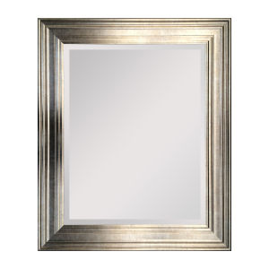 Lareina Champagne Gold and Silver 30-Inch Lareina Mirror