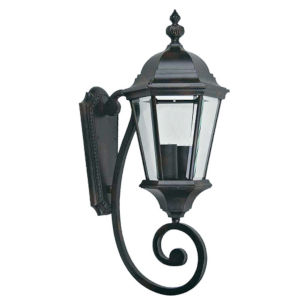 Brielle Black Eight-Inch One-Light Outdoor Wall Mount