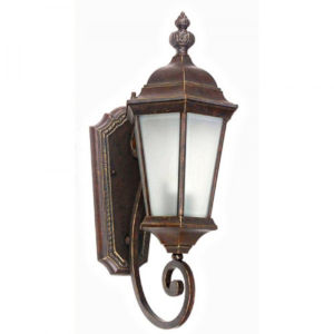 Brielle Brown Eight-Inch One-Light Outdoor Wall Mount